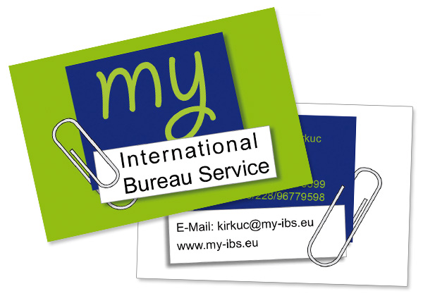 My ibs logo visitenkarte anzeigen rebecca haupt for International decor services