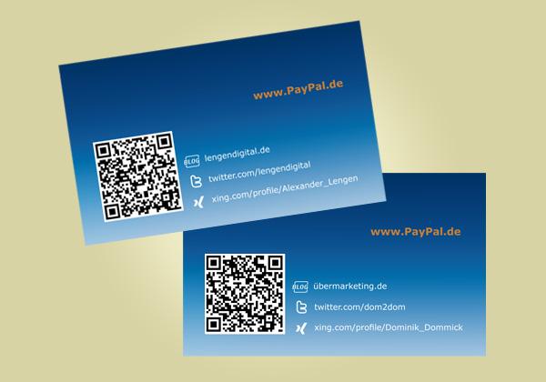Visitenkarten Mit Qr Code Für Paypal Rebecca Haupt Rebsdesign