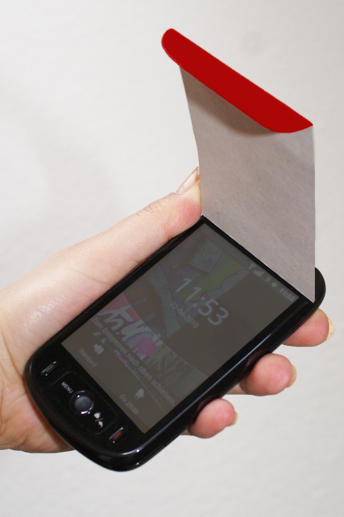 smartphone markise zum selber machen rebecca haupt rebsdesign. Black Bedroom Furniture Sets. Home Design Ideas
