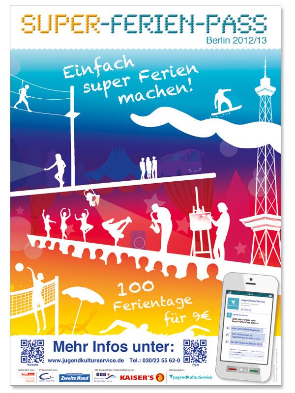 Gestaltung des Covers und der Plakate für den Super-Ferien ...